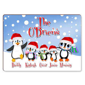 Christmas Penguin Placemats