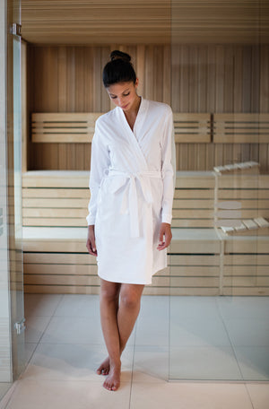 Womens Cotton Wrap Bathrobe