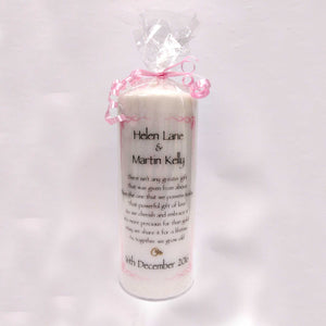 Personalised Wedding Candles - Personalise It