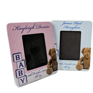 Personalised Baby Photo Frame with Name and Date