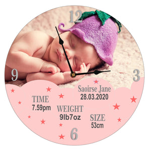 Glass Baby Clock