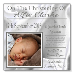 Personalised Christening Baby Panel