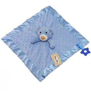 Velour dimple Fabric Comforter with teether