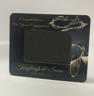 Champagne Engagement Frame