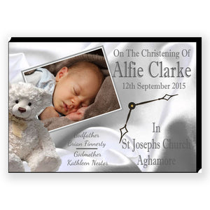 Personalised Christening Clock - Personalise It