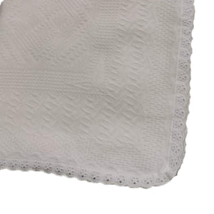Cotton Christening Blanket/Shawl