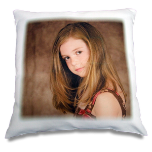 Satin photo cushion