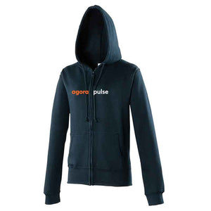 AgoraPulse Womens Zipped Hoodie Re Branded