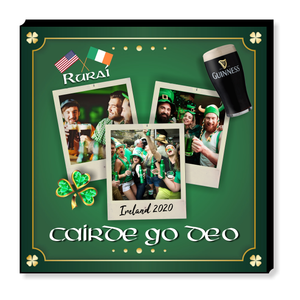 Personalised Irish Themed photo panel
