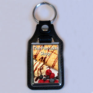 Leather Fob Keyring - Personalise It