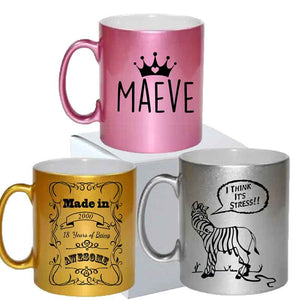 Metallic Mug Personalised Gift