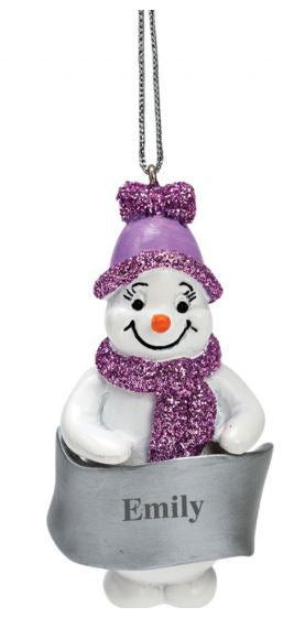 Small Snowman Ceramic Decorations