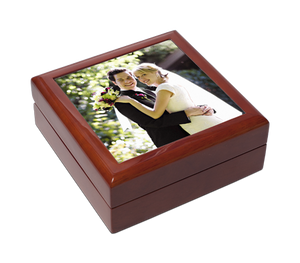 Square Keepsake/Jewellery Box, Personalised Gift
