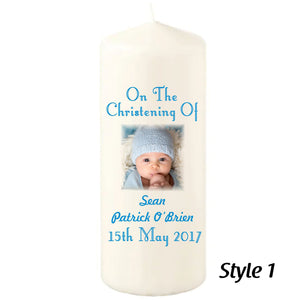 150mm Personalised Christening Candles - Personalise It