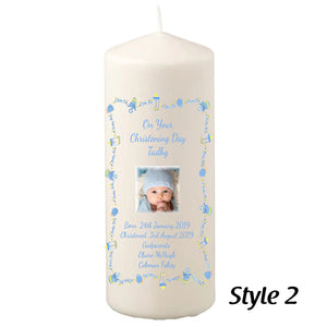 200mm Personalised Christening Candles