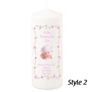 200mm Personalised Christening Candles Personalised Gift