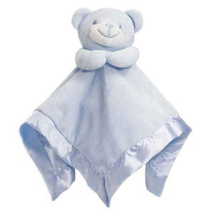 Bear Comfort Blanket With Satin Trim - Personalise It