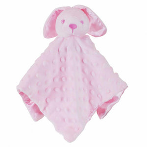 Bunny Bear Comfort Blanket With Dimples, Personalised Gift