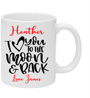 Valentines Mug (to the moon)