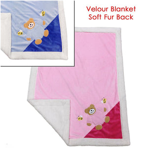 Personalised Velour Baby Blanket - Personalise It