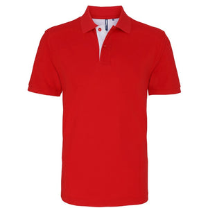 Mens classic fit - contrast polo - Personalise It