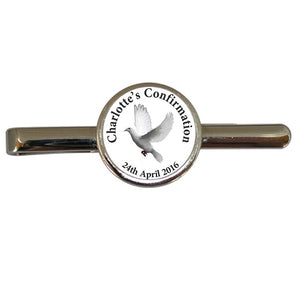 Boys! so difficult to buy for, how about this special Confirmation tie clip.  This Confirmation tie clip comes in a smart black presentation box