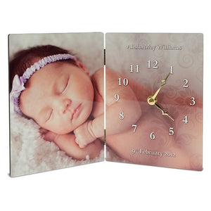 Double Panel Clock - Personalise It