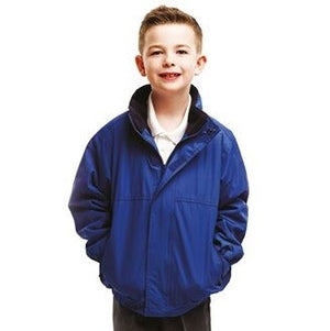 Our Kids Dover Jacket is waterproof and windproof, taped seamsFleece-lined body and collar2 zipped lower pocketsFabricWaterproof Hydrafort polyester 250 series anti-pill fleece lining polymaide lined sleeves with Thermoguard insulation