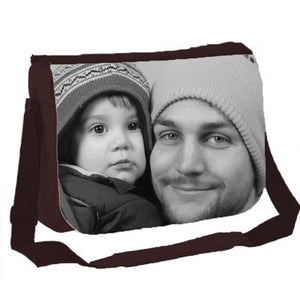 Classic Messenger Bag, You can personalise this bag with photos text or logo. (37.5 x 30 x 10.5cm)