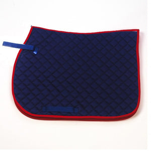 Hard wearing and durable general purpose quilted Mackey saddlecloth. Features velcro retaining straps and girth loops for a secure fit. Machine washable 30ó max. Do not tumble dry
