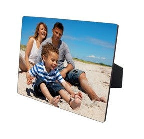 Our rectangle photo panels can be printed landscape or portrait, you can even add a message. The photo panel also comes with  an easel