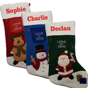 Add that special touch to your decorations with a personalised stocking.Choice of Red, Green & Blue.óóó