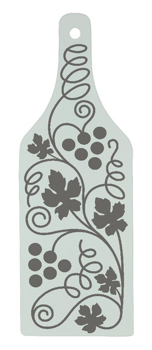 Personalised Bottle Shape glass Cutting Board - Personalise It