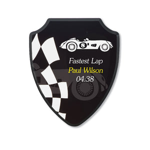 Our shield plaques have a high gloss finish with a superb quality. The MDF plaque is 15mm thick and have a key hole at the back for easy hanging.177.8mm x 228.6mm
