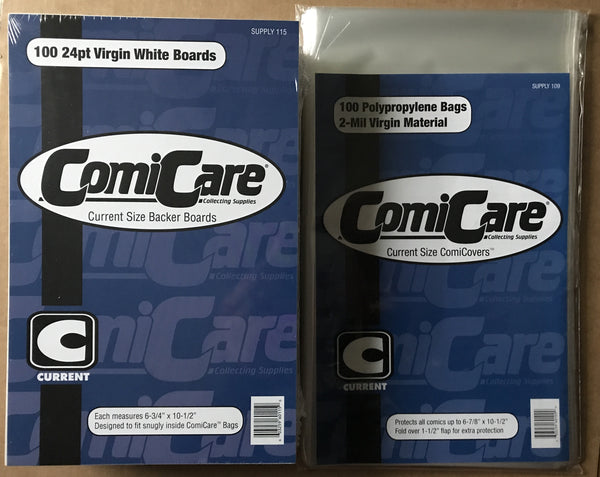 100 Comic Bags & Boards - Current (ComiCare)
