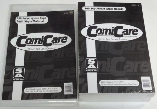 100 Comic Bags & Boards - Silver (ComiCare)