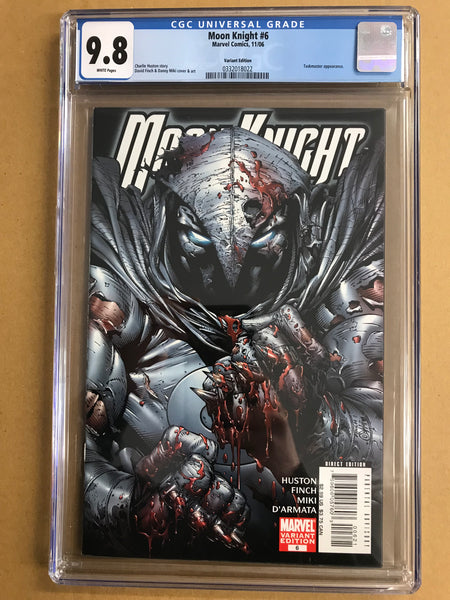 Moon Knight #6 - Finch Bloody Variant - CGC 9.8