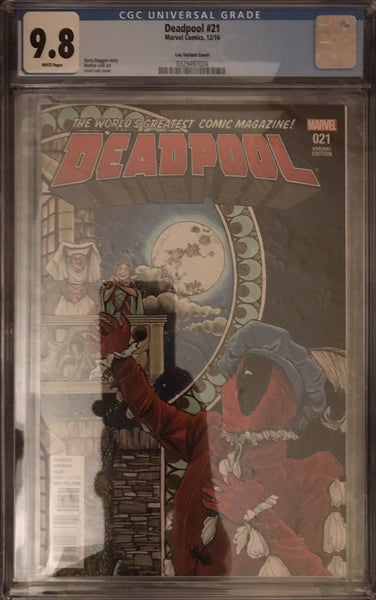Deadpool #21 - Lee 1:50 Variant - CGC 9.8