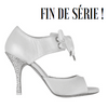 Princesse Tango A10 Cuir blanc strass argent