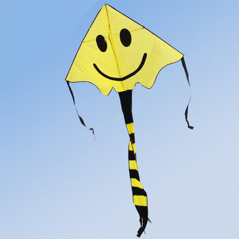 Childrens Kite Smiley Face 30m line