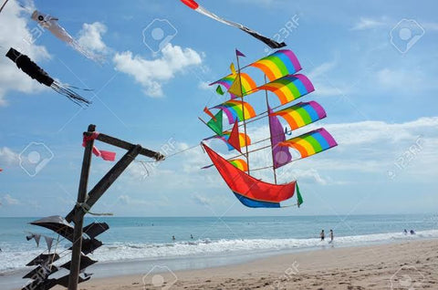 Boat sailboat pirate ship kite children's