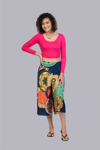 Abstract Kaleidoscope Culottes