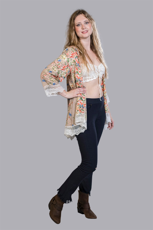 Tina Fringed Bell Bottoms