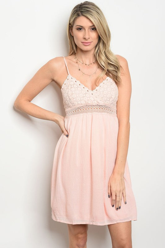 Boho Beach Dress-Peach