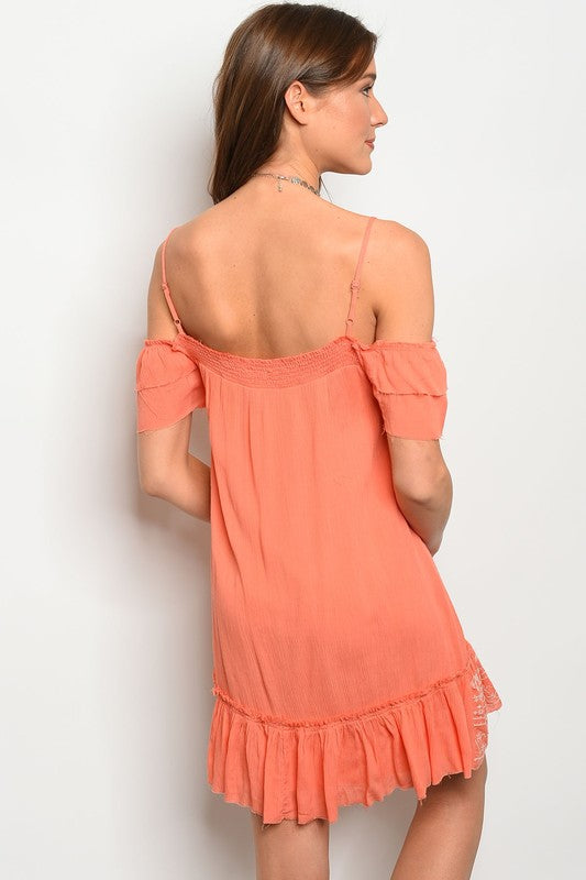 Gypsy Vibes Cold Shoulder Dress - BohAwesome