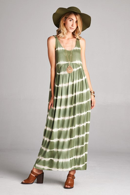 Hayden Tie Dye Maxi Dress