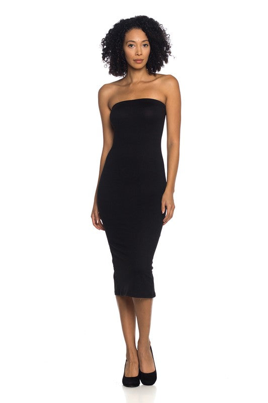 Leigh Bandeau Midi in Black - BohAwesome