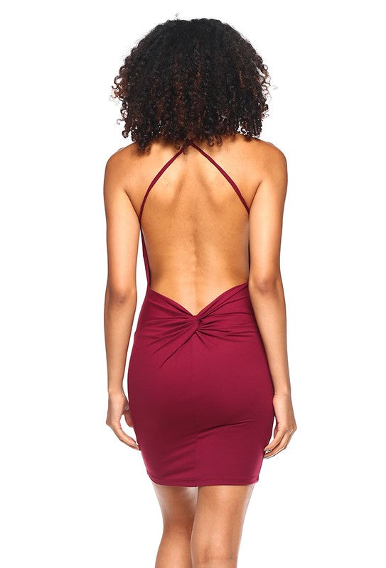 Maxine Cross Back Mini Dress