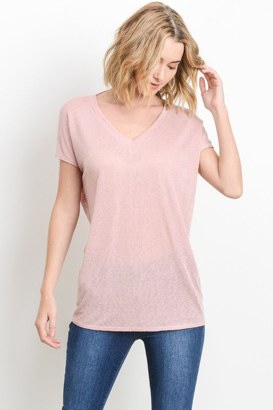 Party in the Back Blush Top