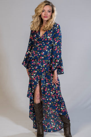 Sunny Floral Asymmetrical Dress